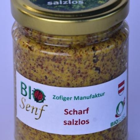 Scharfer Senf salzlos