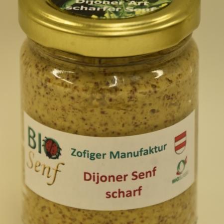 Bio-Senf Dijoner scharf