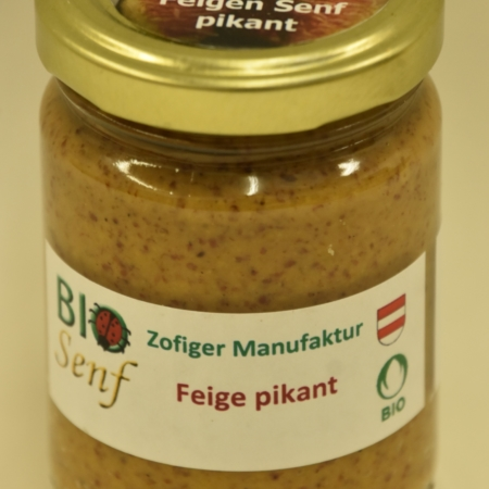 Zofiger Manufaktur Bio-Senf Feige pikant